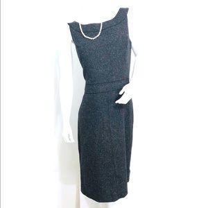 Ann Taylor Wool Silk Blend Shirt Dress Size 12
